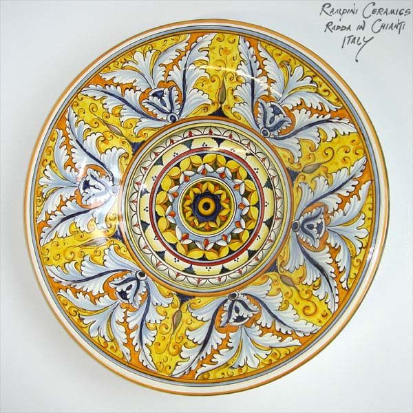 Geometrie Siciliane - Sicilian Geometries  sc 1 st  R&ini Ceramics & Rampini Ceramics selected decorative plates: Round plate 40 with ...