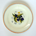 Blackberries. Bread plate (SQ18) - Antique Fruit (FRA001)