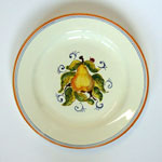 Pear. Bread plate (SQ18) - Antique Fruit (FRA001)