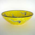 Decor: LZY001 Lizards on Yellow