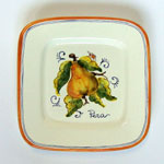 Pear. Small square plate (SQ18) - Antique Fruit (FRA001)