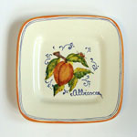 Apricot. Small square plate (SQ18) - Antique Fruit (FRA001)