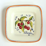 Cherries. Small square plate (SQ18) - Antique Fruit (FRA001)