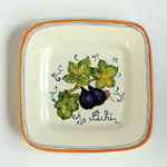 Figs. Small square plate (SQ18) - Antique Fruit (FRA001)