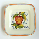 Apple. Small square plate (SQ18) - Antique Fruit (FRA001)