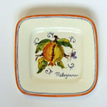 Pomegranate. Small square plate (SQ18) - Antique Fruit (FRA001)