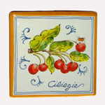 Cherries. Square tiles (TS13) - Antique Fruit (FRA001)