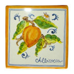 Apricot. Square tiles (TS13) - Antique Fruit (FRA001)