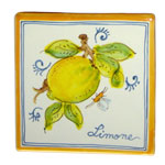 Lemon. Square tiles (TS13) - Antique Fruit (FRA001)