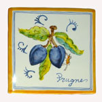 Plums. Square tiles (TS13) - Antique Fruit (FRA001)