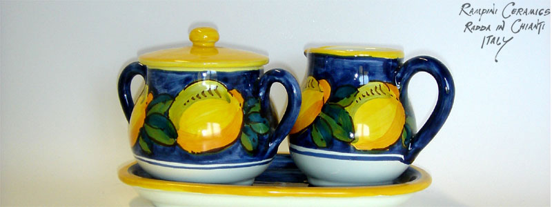 Sugar and creamer set (SZMT) - Anna Lemons Blue (ANL002)