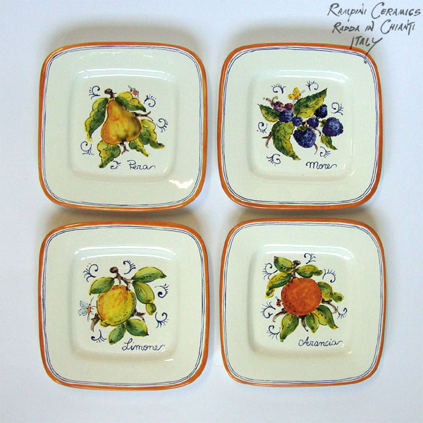 Small square plates (SQ18) - Antique Fruit (FRA001)