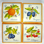 Square Tiles (TS13) - Antique Fruit (FRA001)