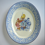 Oval plate with family crest