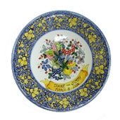 Wedding plate, commemorative plate